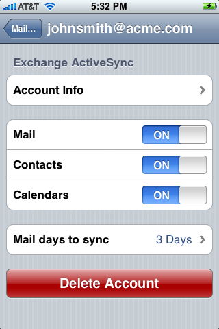 Unlimited e-mail on your iPhone - iPhone J D