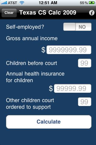 Pa Child Support Calculator Android S On Google Play Screenshot