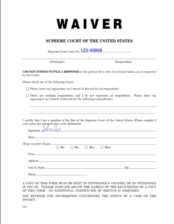 Waiver 676