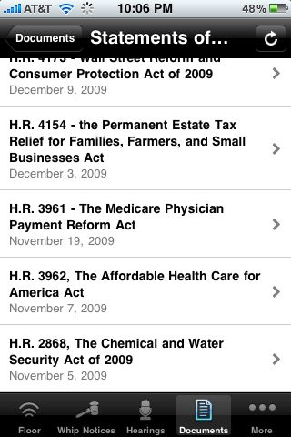 Iphone jd january 2010 the hearings button provides a schedule of upcoming committee hearings with a button to select either house or senate the documents button provides links fandeluxe