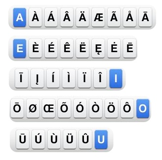 Typing letters or symbols that are not on the iPhone keyboard