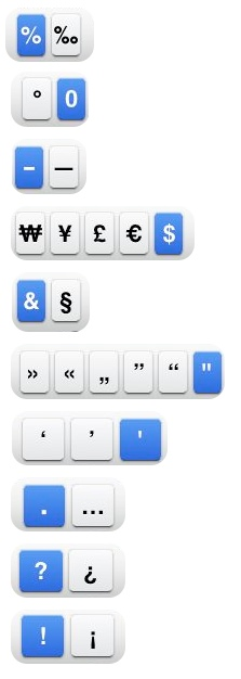 Typing letters or symbols that are not on the iPhone