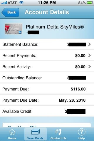 Review: American Express -- view your account balance and