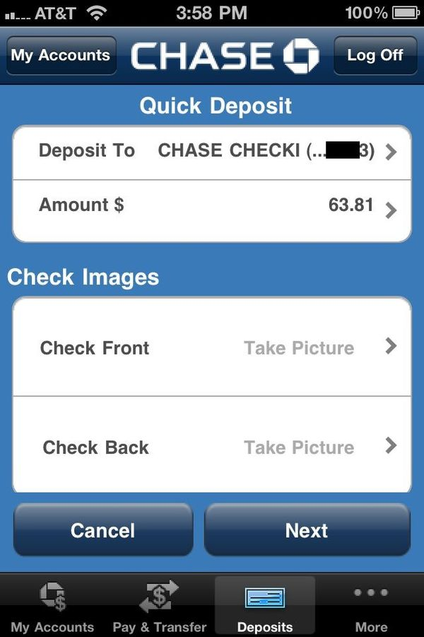 Review: Chase app -- access your account and even deposit checks on