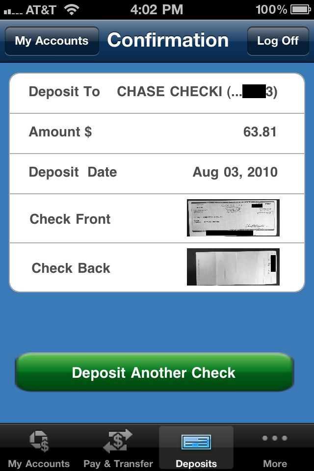 see account number on chase app