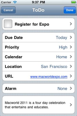 Macworld Expo Best of Show - iPhone J D