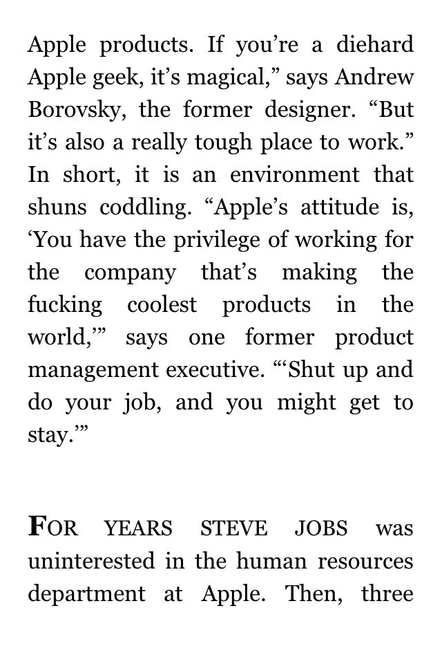 Fortune s inside apple article purchasing a kindle article to