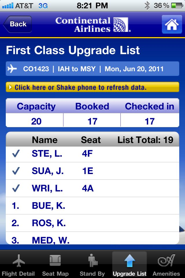 Review: Continental Airlines -- flight information on your iPhone