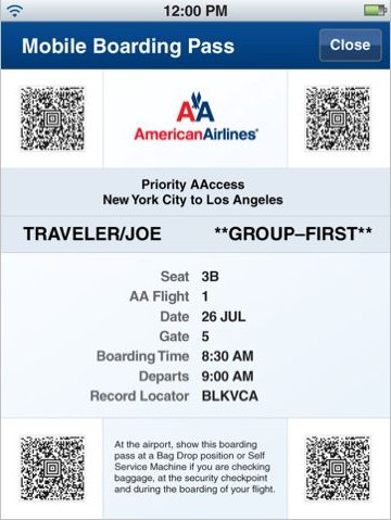 Review American Airlines Flight Information On Your