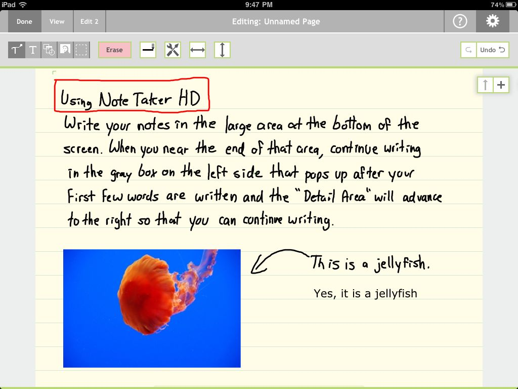 Review: Note Taker HD -- take handwritten notes on the iPad