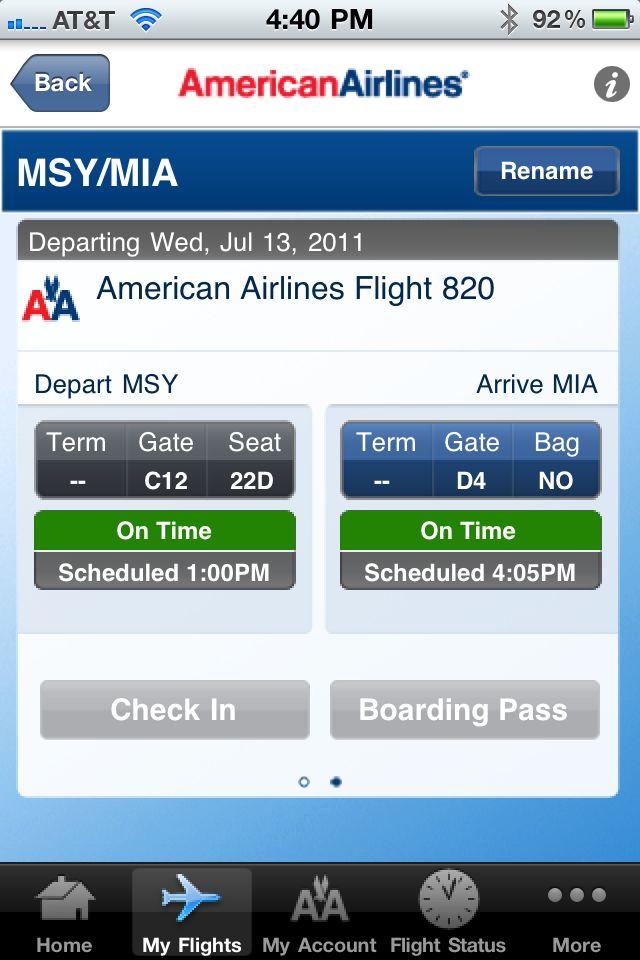 american airlines app
