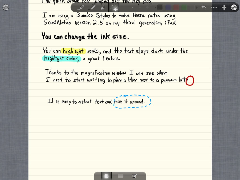 Review: GoodNotes -- take handwritten notes on the iPad