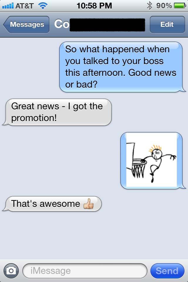 stick figure texting