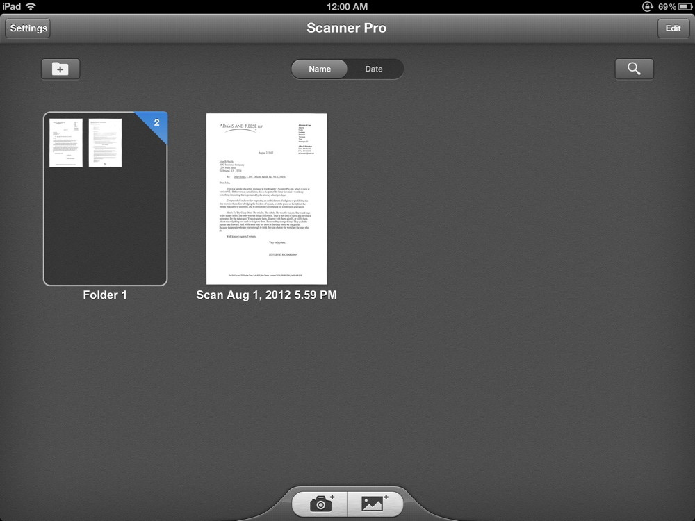 Review: Scanner Pro by Readdle -- scan documents with your