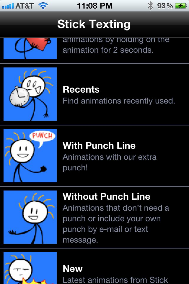 Review: Stick Texting -- add funny animations to your text messages