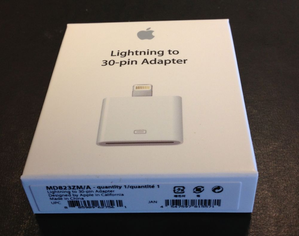 Review: Apple Lightning to 30-pin adapters -- use older