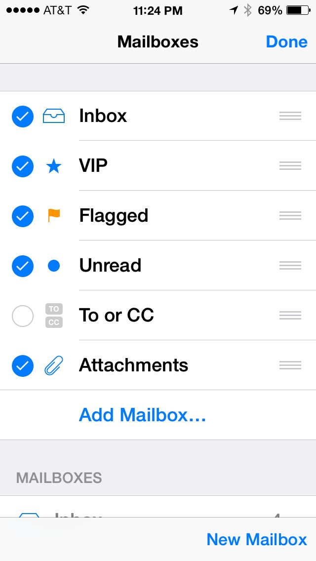 How to view unread emails on an iPhone or iPad - iPhone J D