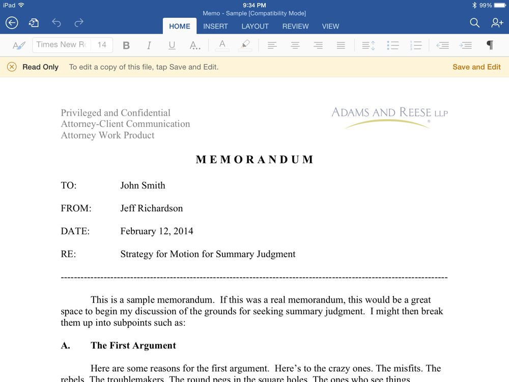 review microsoft word for ipad iphone j d