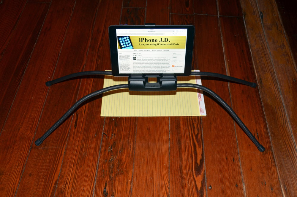 Review tablift iPad stand for use in bed sofa etc iPhone JD