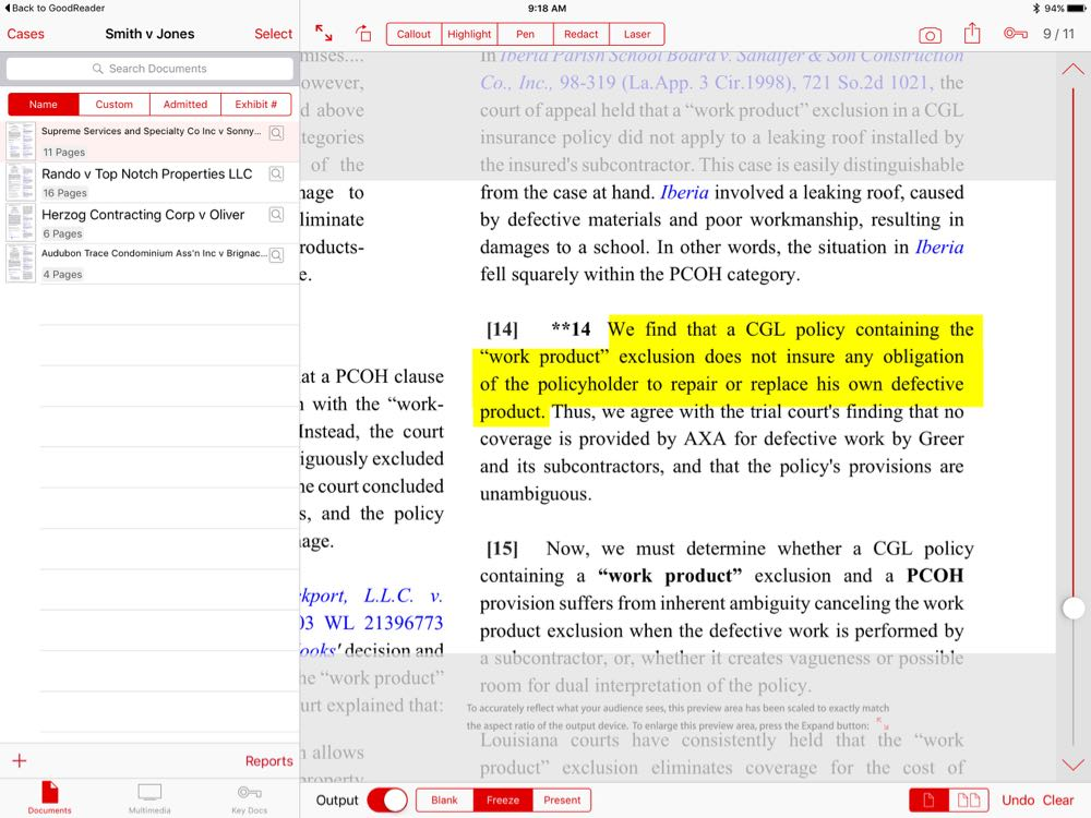 Review: TrialPad -- present evidence from your iPad - iPhone J D