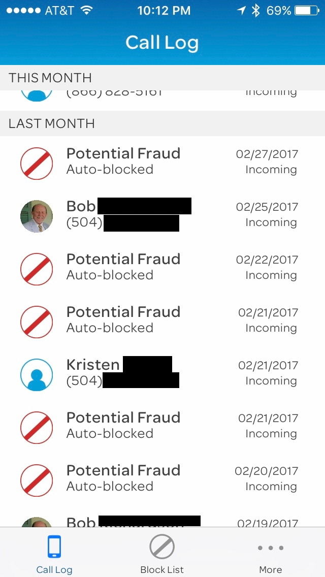 Review att call protect block and warn of nuisance calls you can tap on an entry in the call log to get more information on the blocked call if it turns out that it was someone who you wanted to talk to ccuart Choice Image