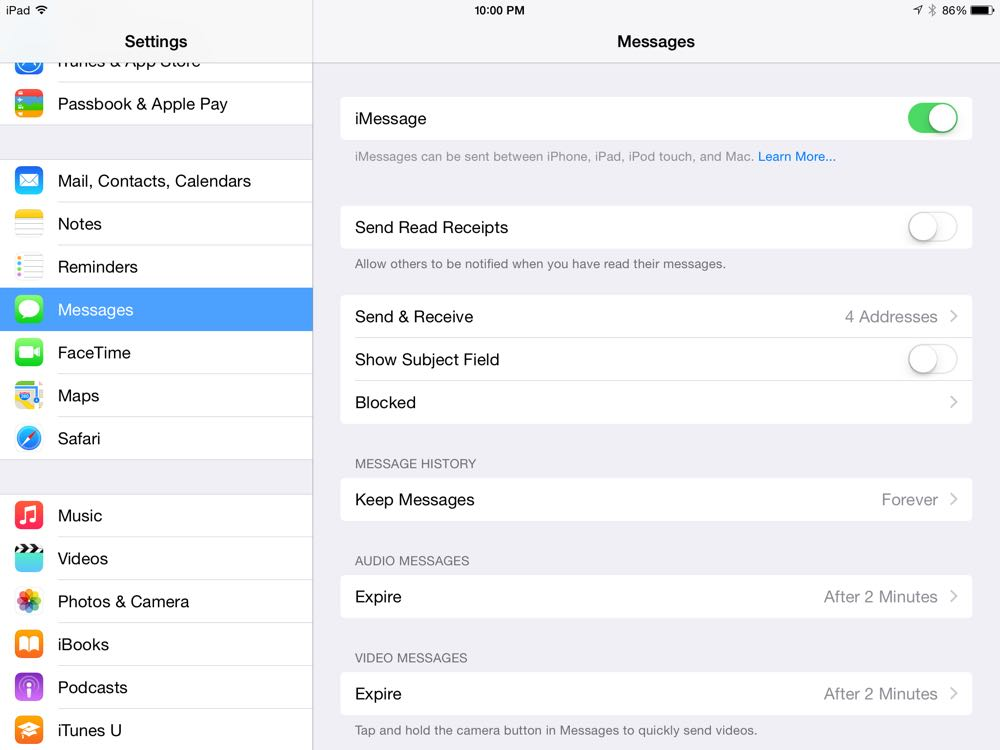 Ipad Tip Turn Off Messages If You Share Your Ipad Iphone Jd