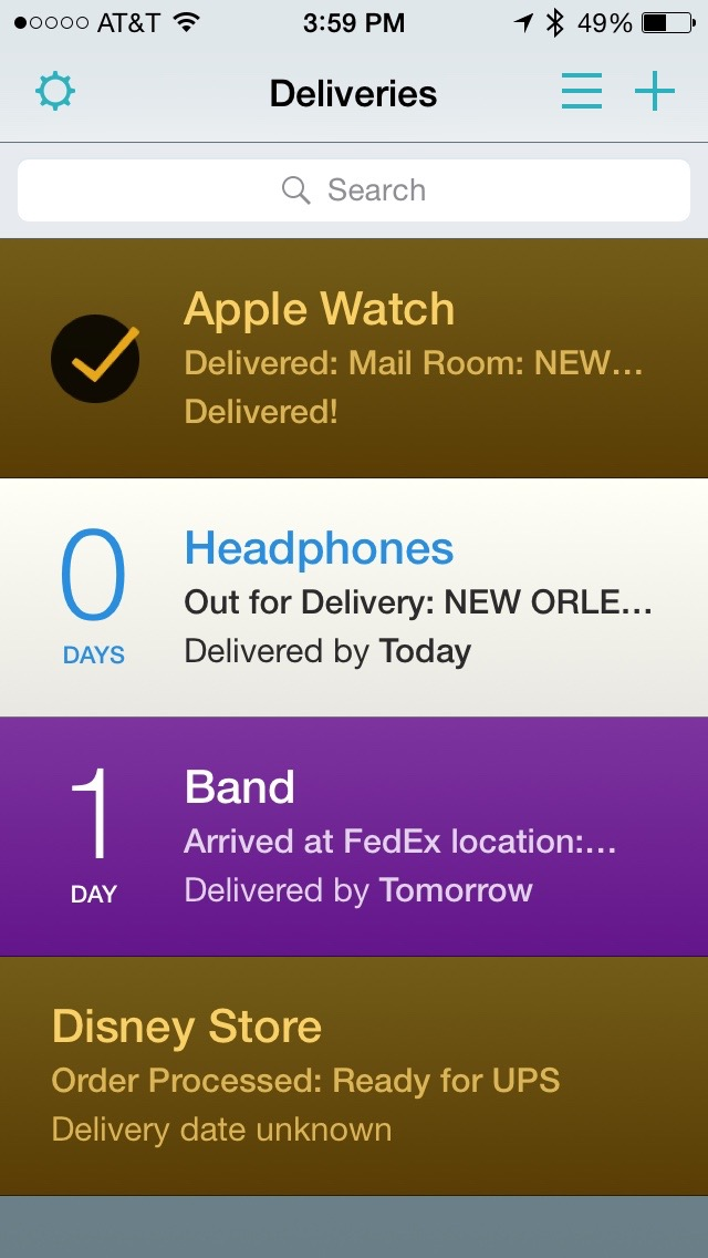 Review: Deliveries -- track your packages on the iPhone and
