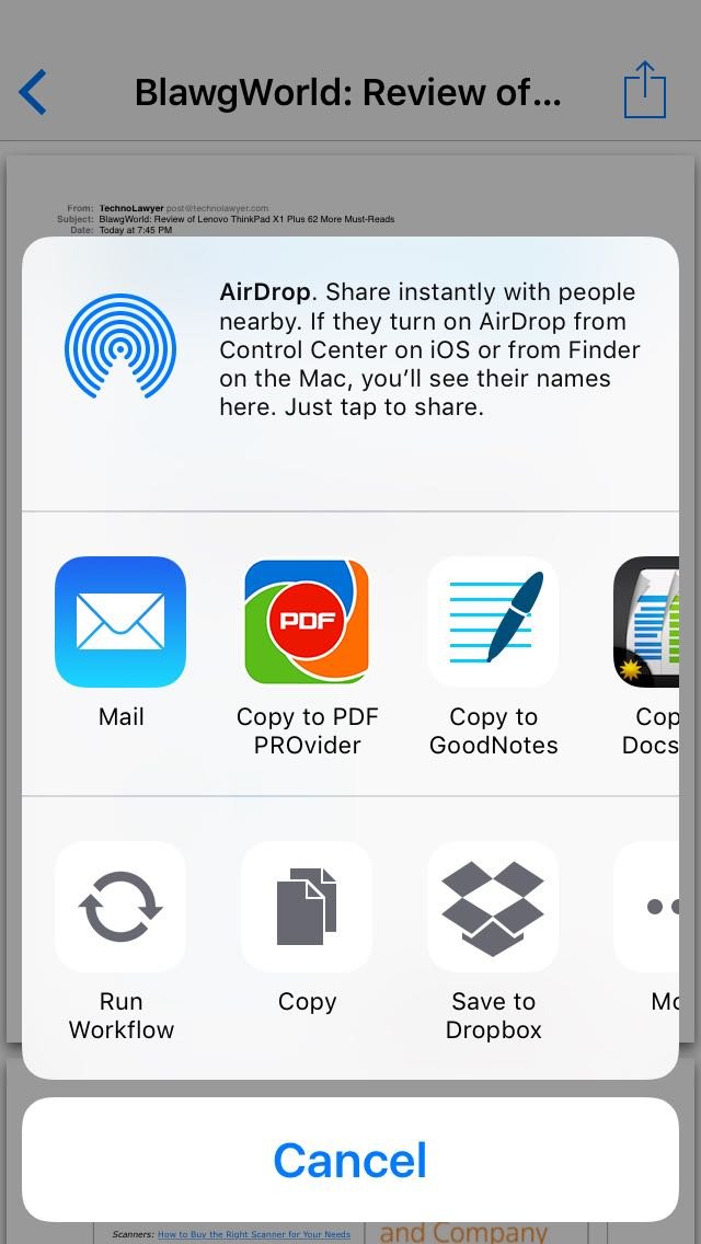 Create A Pdf Of An Email On An Iphone 6s Iphone Jd