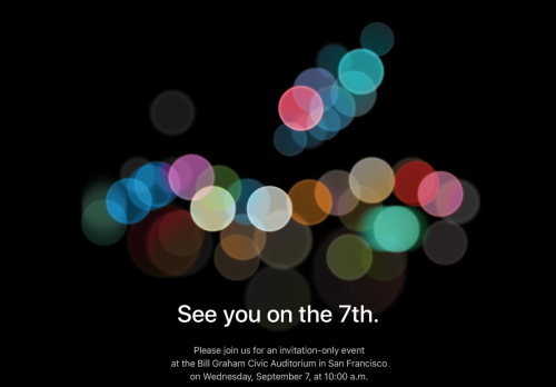 Apple Event Invite 9-7-2016