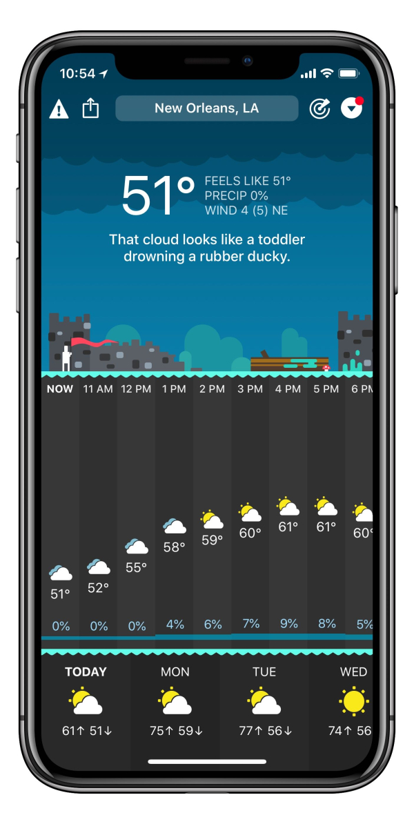 Review Carrot Weather Excellent Weather App With Attitude