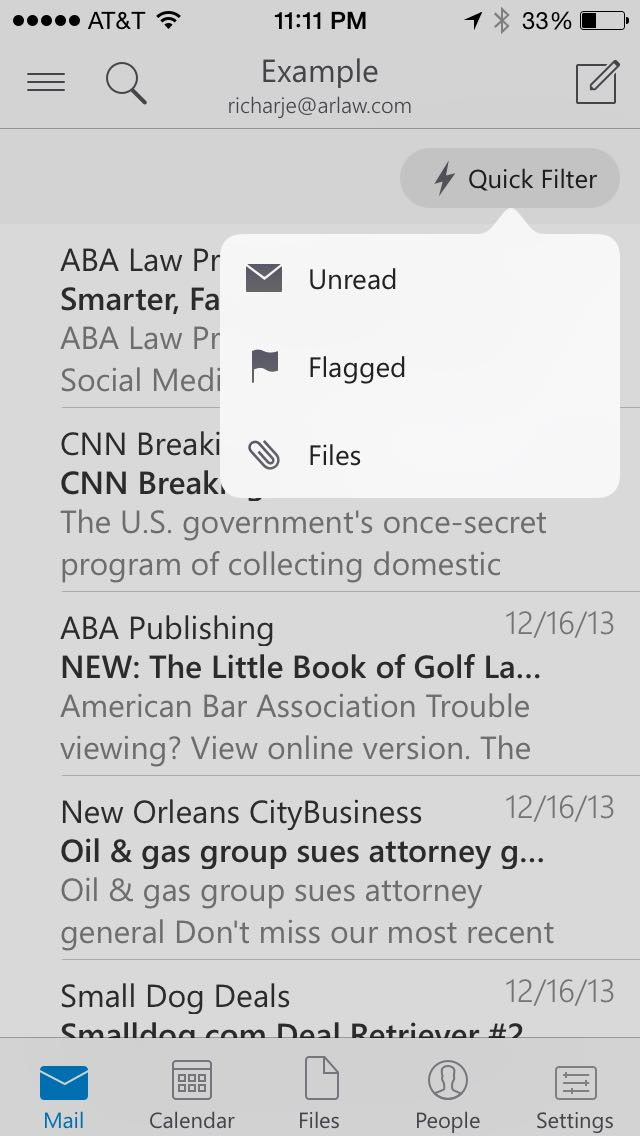 Review: Microsoft Outlook -- email client for iPhone and