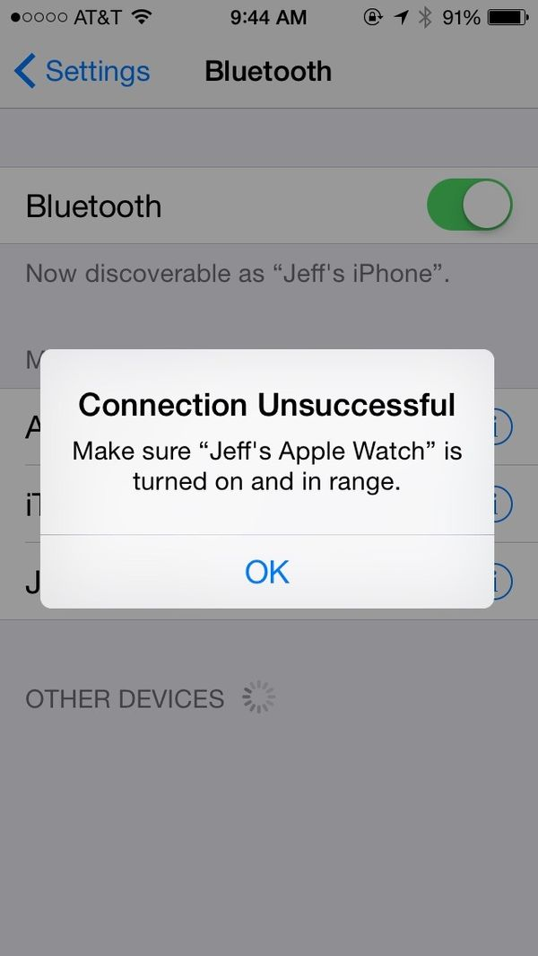 Apple Watch tip: solve disconnect from iPhone by resetting