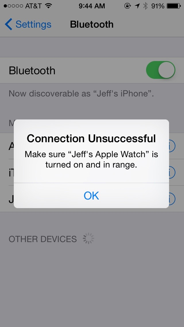 Apple Watch tip: solve disconnect from iPhone by resetting Bluetooth
