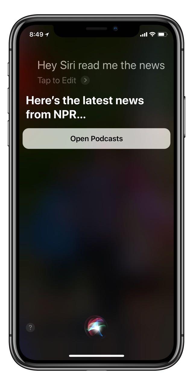 Hey Siri, read me the news - iPhone J D