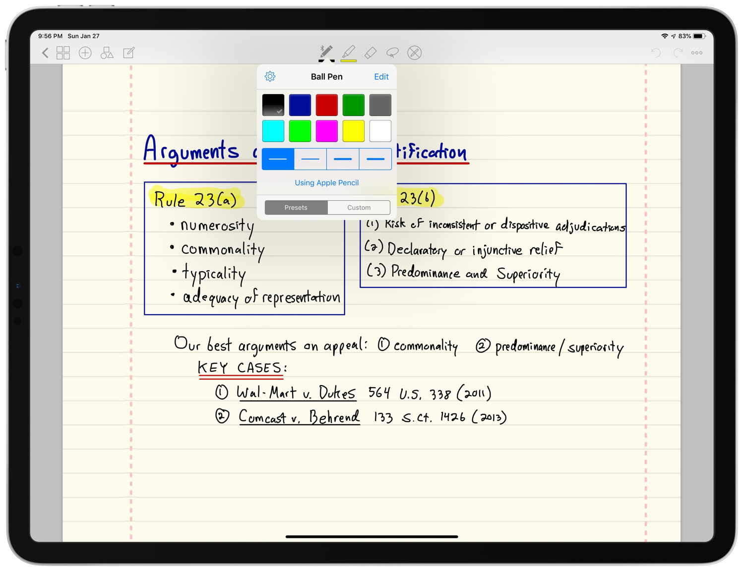 Review: GoodNotes -- take handwritten notes on an iPad