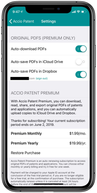 Review: Accio Patent -- quickly fetch patents on your iPhone